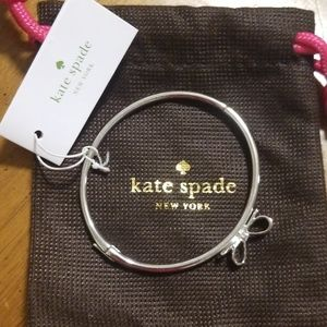 "Kate Spade Silver ""Love Notes"" Hinged Bracelet"